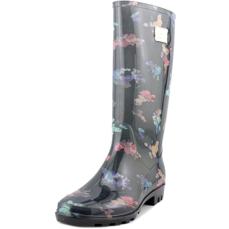 637299e9c40 hot sale Nicole Miller New York Rena Women Round Toe Synthetic Black Rain  Boot