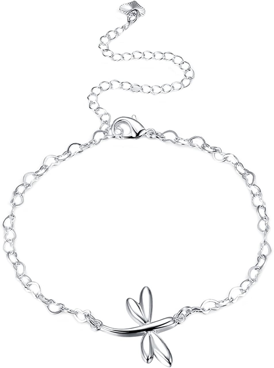 SIMPLE ANKLET ANKLE BRACELET CHAIN SILVER PLATED GOLD PLATED UK SELLER