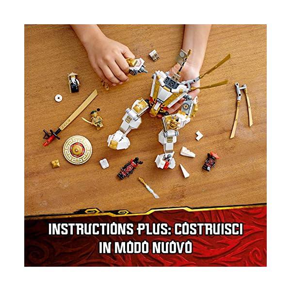 LEGO Ninjago Mech Dorato con Katana e 4 Minifigure: Lloyd, Wu e Generale Kozu, Set di Costruzioni Ricco di Dettagli per… 4 spesavip