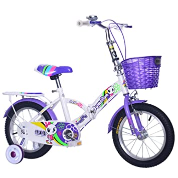 YEARLY Bicicleta plegable infantil, Bicicleta plegable estudiante Ligero Bicicleta plegable Para 4-5 años
