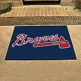 "Fanmats Home Indoor Sports Team Logo Mat Atlanta Braves All-Star Rugs 34""x45"""