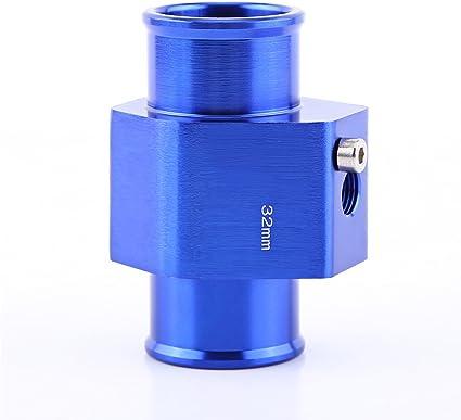 Keenso Universal Aluminium Wassertemperatur Verbindungsrohr Sensor Messgerät Heizkörper Schlauch Adapter 32mm Auto