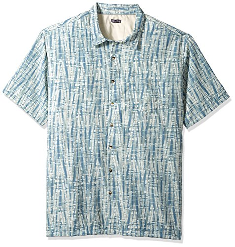 Van Heusen Men's Tall Size Big Oasis Printed Short Sleeve Shirt, Deep jadeite, (Jadeite Apparel)