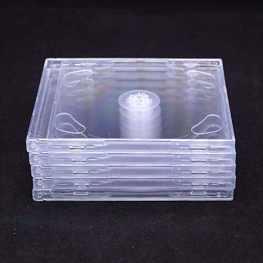 GWXJZ Estanterías para CD DVD Paquete de 5/10 Cajas de CD ...