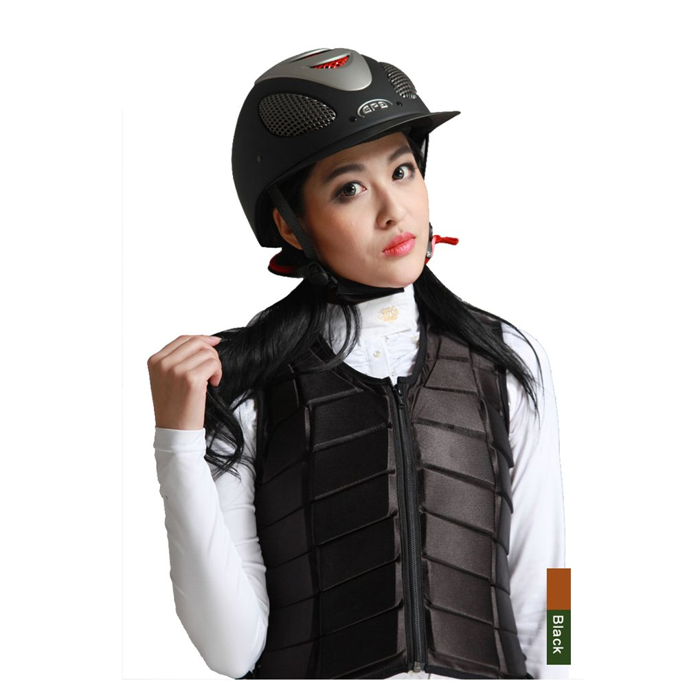GFDHHNN Horse Riding Equestrian Body Protector Safety Eventer Vest Protection Protective (Black, L) by GFDHHNN (Image #2)
