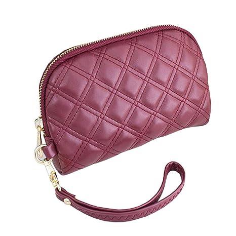 QINJLI Embrague de la Sra. Ling GE pequeño Cambiar Embrague Bolsa Ling Check móvil 19