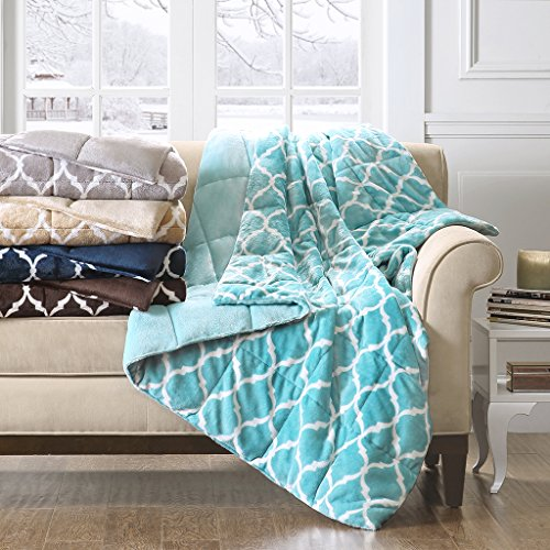 Madison Park - Ogee Oversized Down Alternative Super Warm Plush Throw - Grey - 60(W)