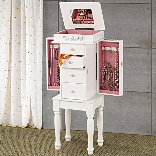 Coaster Home Furnishings 4-drawer Jewelry Armoire White ()