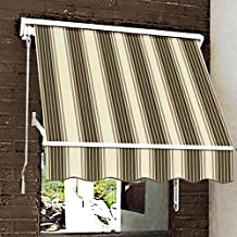 Beauty-Mark MS6-BRTW 6-Feet Mesa Window Awning 24-Inch H X 24-Inch D Brown/Tan/White One Size