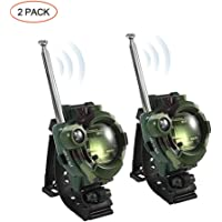 Kids Walkie Talkies, OOOUSE Watch Walkie Talkies 2 Way Radio Long Range Kids Toys, 7 in 1 Mini Walkie Talkies Toy for Kids, Boy & Girls Age 3 4 5 6 7 8 9 (Camouflage, 2 Pack)