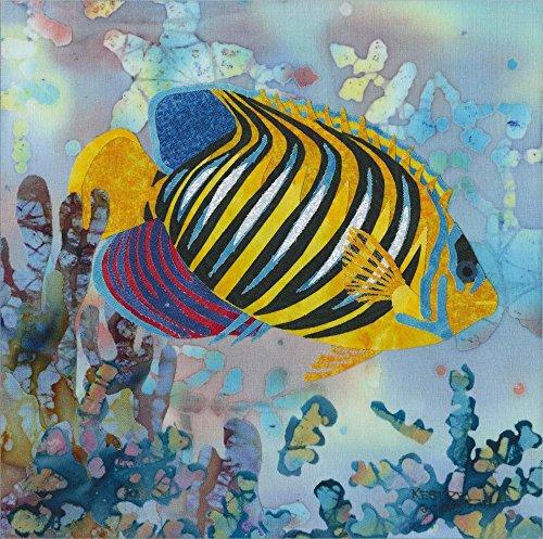 (Regal Angel Fish by Kestrel Michaud Laminated Art Print, 30 x 30)