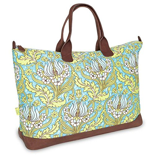 Temple Tulips (Amy Butler Meris Tote,Temple Tulips Turquoise,one size)