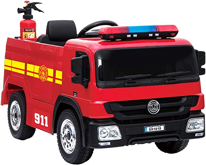 Kinder Elektroauto Feuerwehr - crooza Elektro Feuerwehrauto