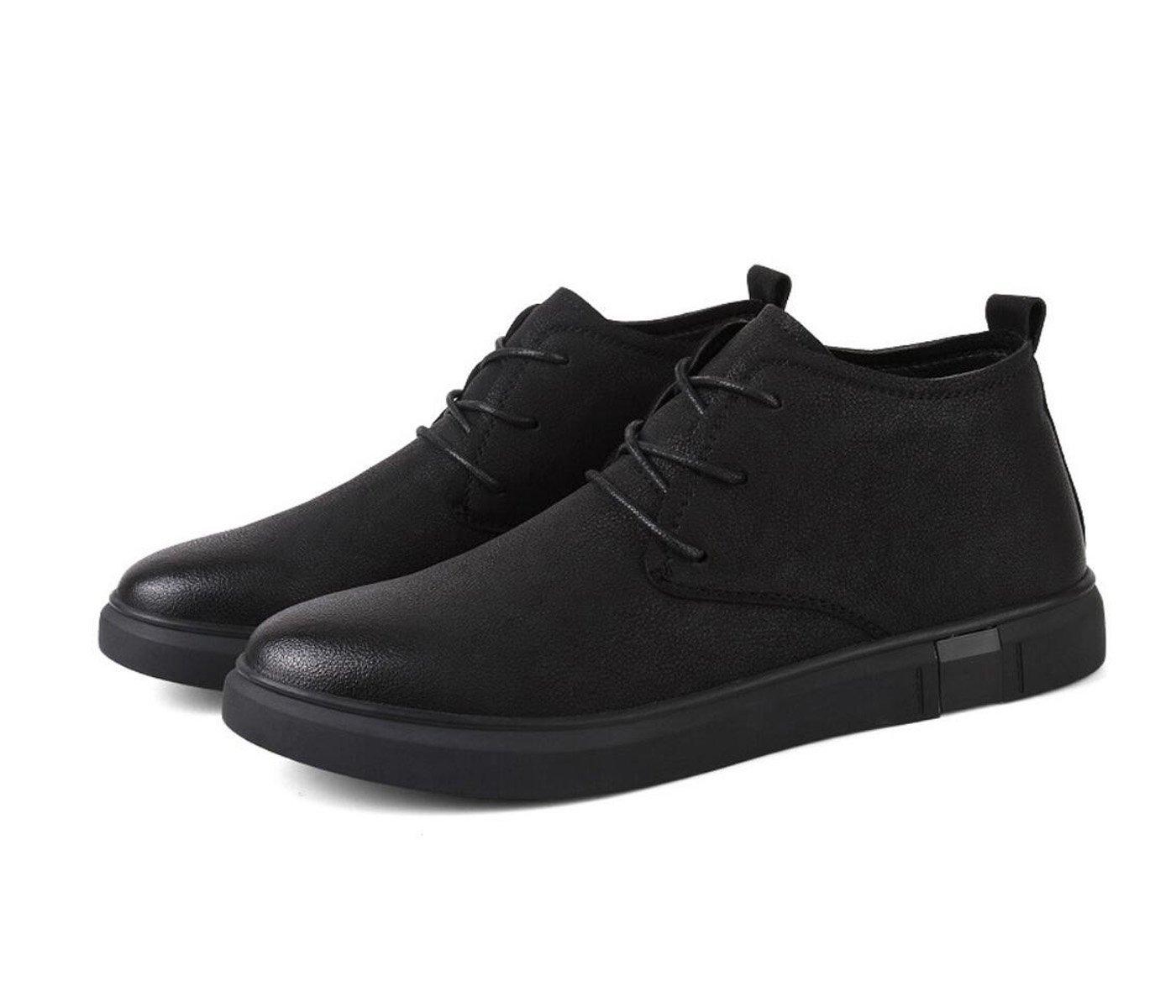 DANDANJIE Herrenschuhe Schuhe Warme Samt Baumwoll Schuhe Herrenschuhe 2018 Herbst-und Winter Modelle Handgemachte Lässige Lederstiefel a22601