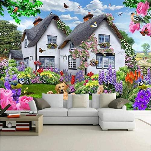 装飾画 3D美しい家庭犬自然風景ポスター壁の装飾絵画子供ルーム寝室の背景写真壁紙壁画