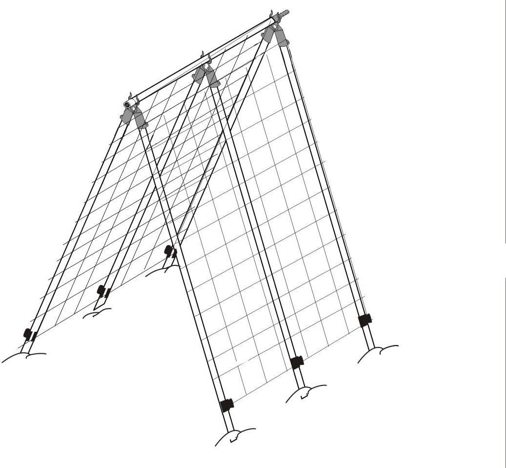 High Heavy-Duty A-Frame Trellis with Net for Plant Support, Cucumber, Pumpkin, Tomato Ladder Trellis, Garden Structure for Climbing Plants, Height 70