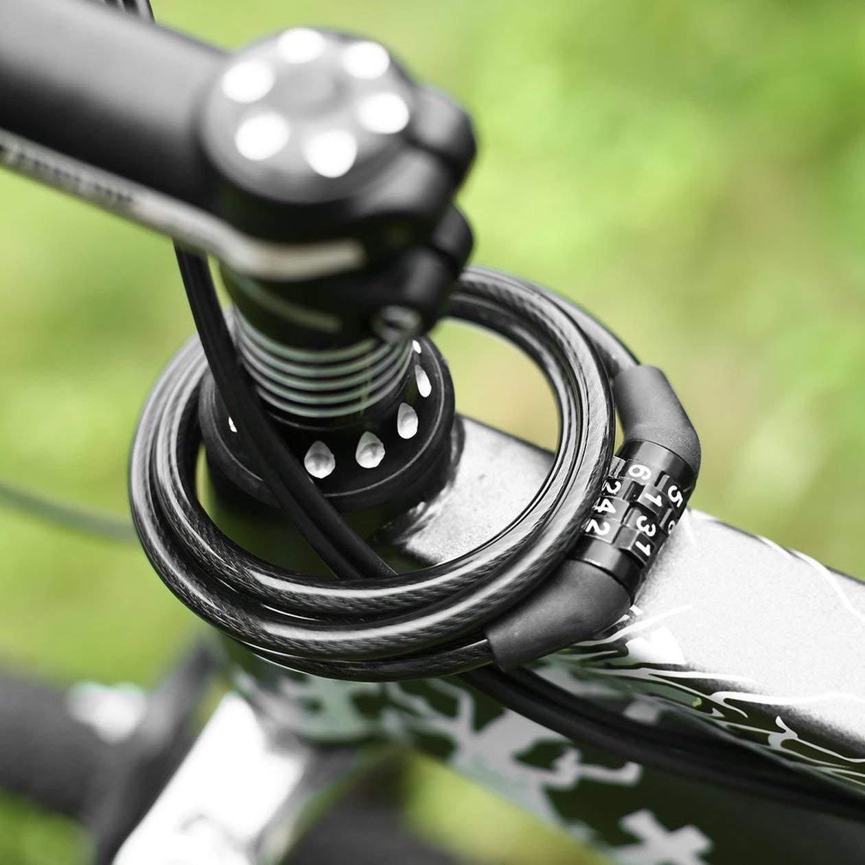 Couleur: Noir HONGIGI C/âble antivol de Code de s/écurit/é Multifonctionnel Code Cycling 4-Digital Facile /à Utiliser V/élo Combinaison V/élo Chian Lock