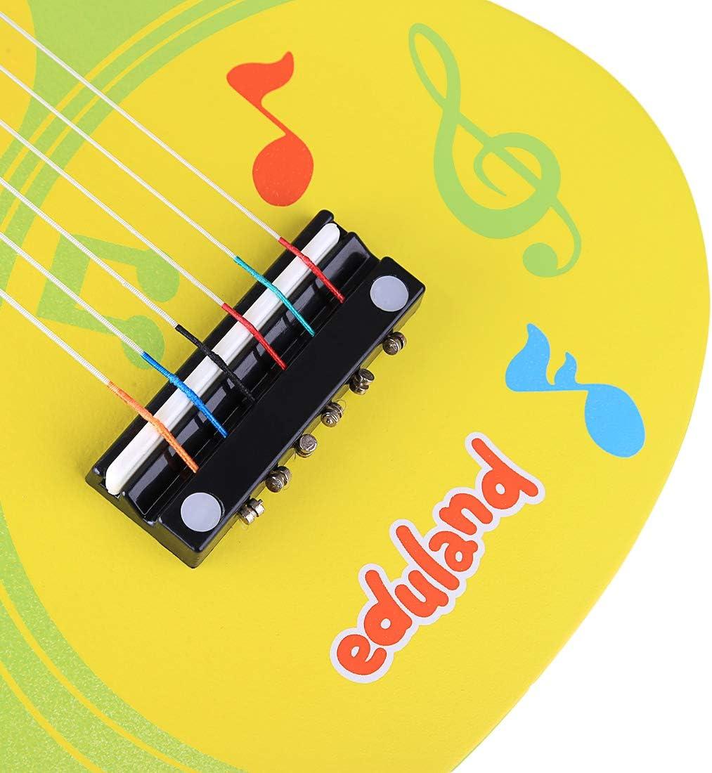 Spieland Kinder Gitarre Holz 6 Saiten Gitarre Spielzeug Musikinstrument Musik Kindergitarre Musikinstrumente P/ädagogisches Spielzeug f/ür Kinder ab 3 Jahre