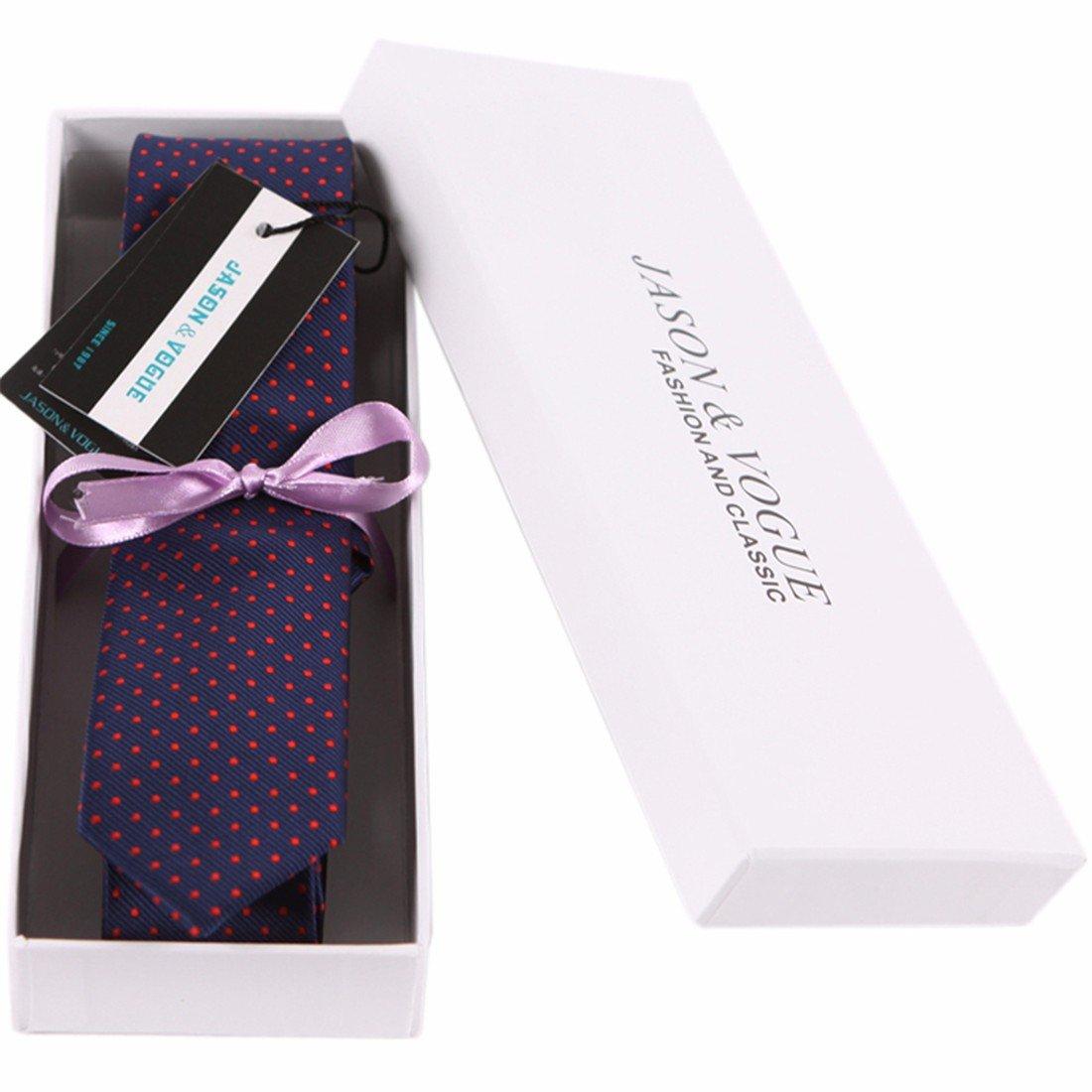 HXCMAN 5cm azul oscuro rojo Lunares corbata Diseño clásico corbata ...