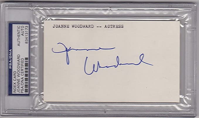 Joanne Woodward Actress signed 3x5 Index Card PSA//DNA Slabbed Paul Newman Wife