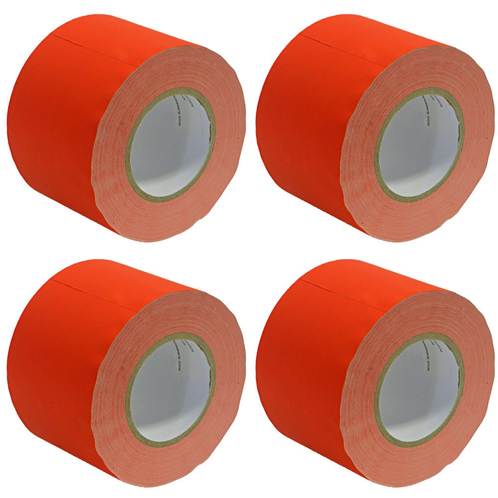4 Pack of 4 Inch Red Gaffers Tape SeismicTape-Red604-4Pack 60 yards per Roll Seismic Audio