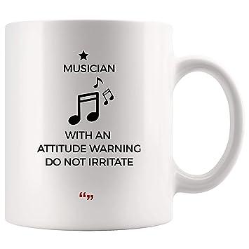 Amazon Com Musician Attitude Warning Don T Irritate Music Mug