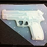 "Flexible Resin or Chocolate Mold Large Pistol Gun 4.5"" in Length"