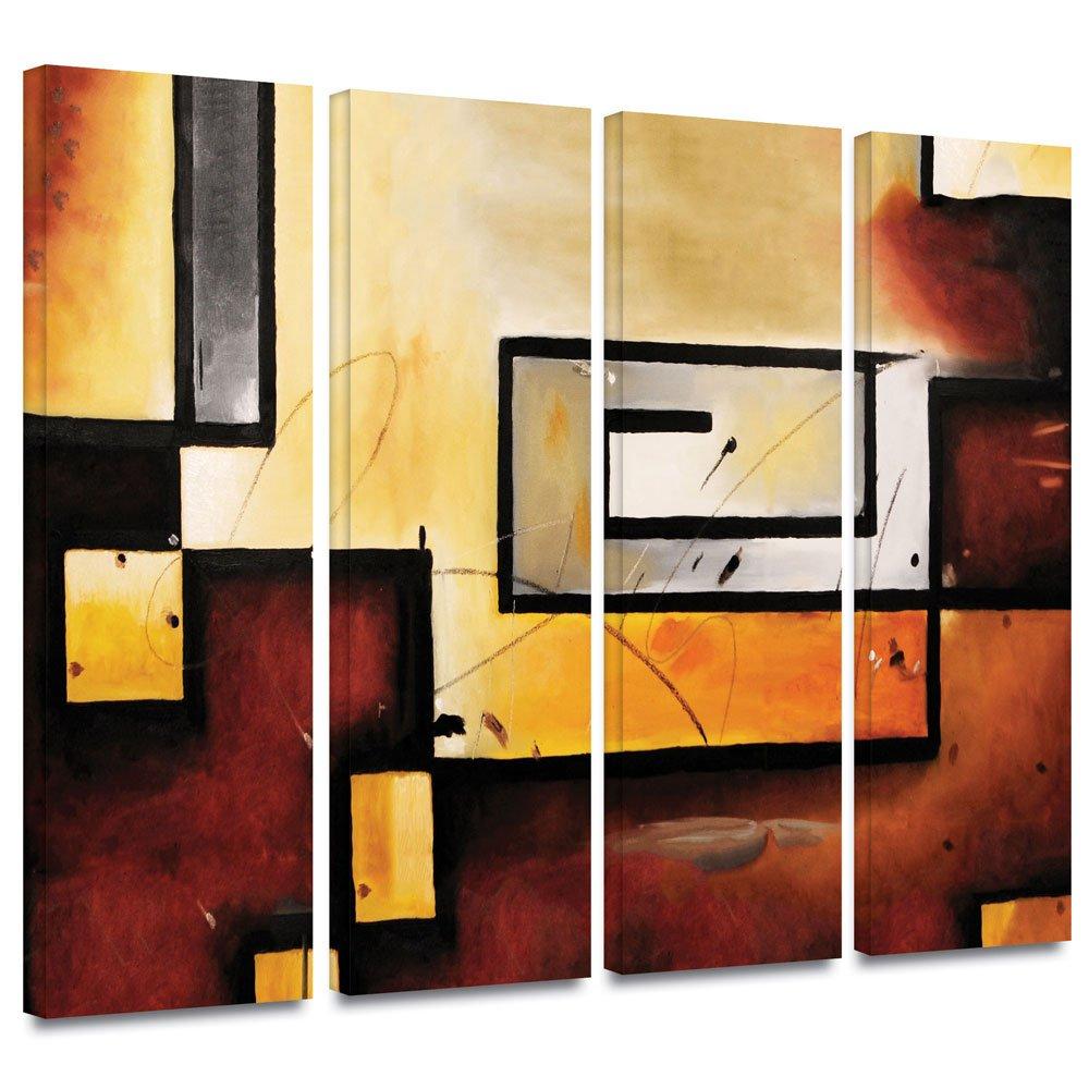 Amazon.com: Art Wall Jmor-4set-101-w-36x48-w Jim Morana \'Abstract ...