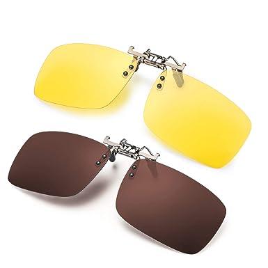 Glare Anti Up Polarized Driving For GlassesFlip Fishing100Uvauvb Clip Night Unisex Vision On Prescription Lens Sunglasses Rimless roeCxdB