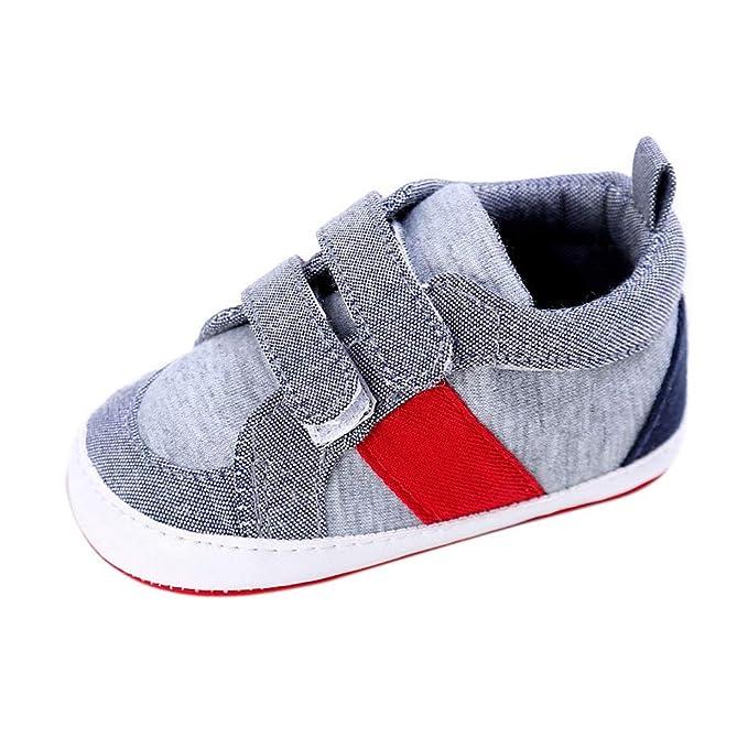 BaZhaHei Zapatillas de Niños Niña Bebé Zapatos de bebé para niños pequeños Zapatos de bebé niña niño recién Nacido Cuna Zapatillas de Suela Suave Zapatillas ...