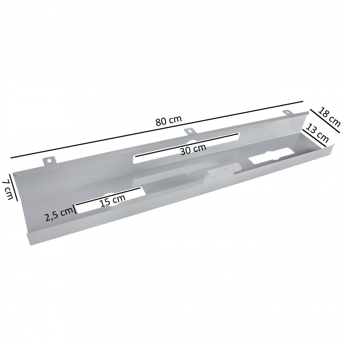 FineBuy Kabelkanal Schreibtisch 80x7x13 cm breit Untertisch ...