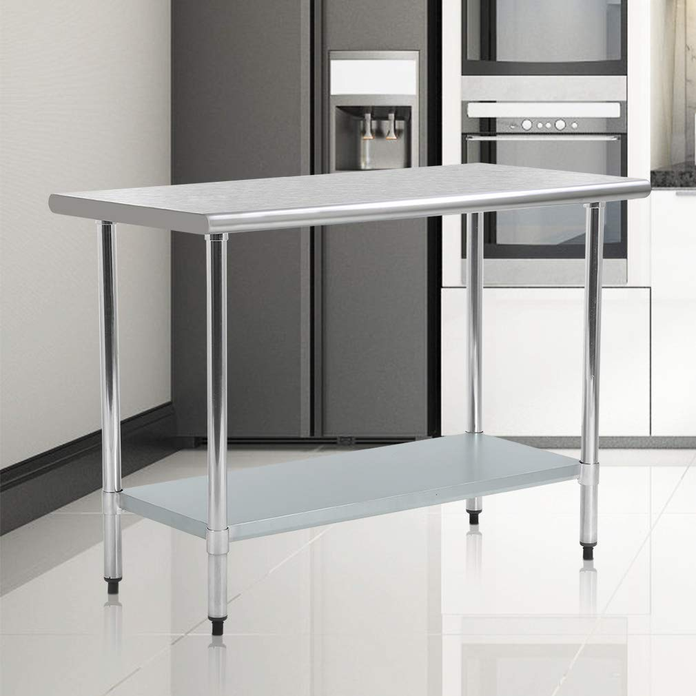 Mr Direct Stainless Steel Work Table Commercial Kitchen Restaurant 24'' x 48''