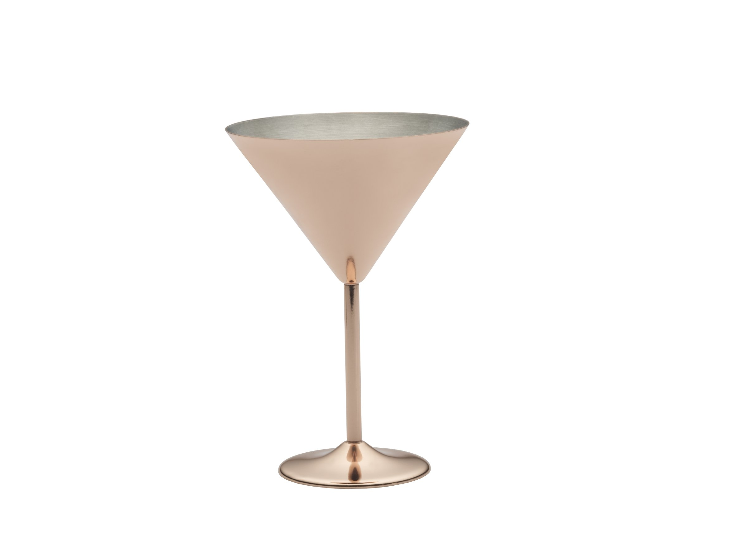 Towle Living Modernist Copper Plated Martini Glass, 12-Ounce