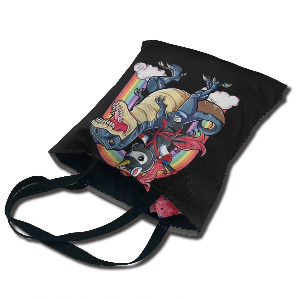 Amazon.com: Riding On Ninja Dinosaur Printing Canvas Bag ...