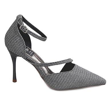b1a447e24e33 cy Femmes Chaussures Shallow Talons Hauts Stiletto Cheville Strap Sandales  Cour Escarpins Toe Wedding Prom Pompes: Amazon.fr: Vêtements et accessoires