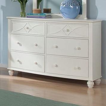homelegance sanibel 6 drawer dresser in white