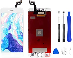Screen Replacement for iPhone 6s 4.7 inch 3D Touch & Digitizer Display Screen Replacement Frame Display Assembly Set with Repair Tool Kits (White)