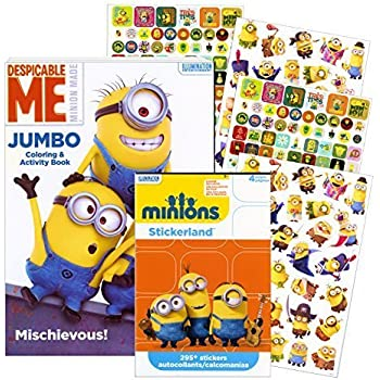 despicable me minions coloring book with stickers over 295 stickers