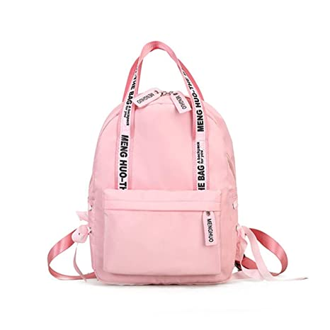 Amazon.com: 2019 New Fashion Large Capacity Backpack Women Preppy School Bags For Teenagers Female Nylon Travel Bags Girls Bowknot Backpack Mochilas (Pink ...