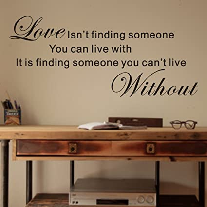 Amazoncom Love Is Finding Someone You Cant Live Without Vinyl