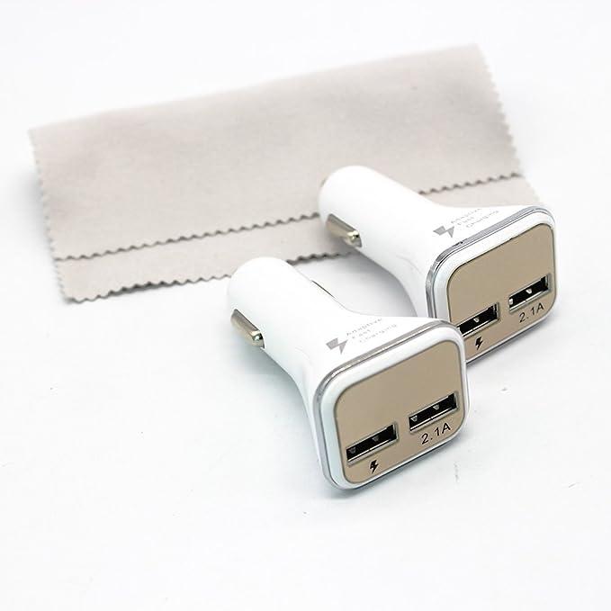 pctc [2 unidades] con Dual USB cargador para el coche para ...