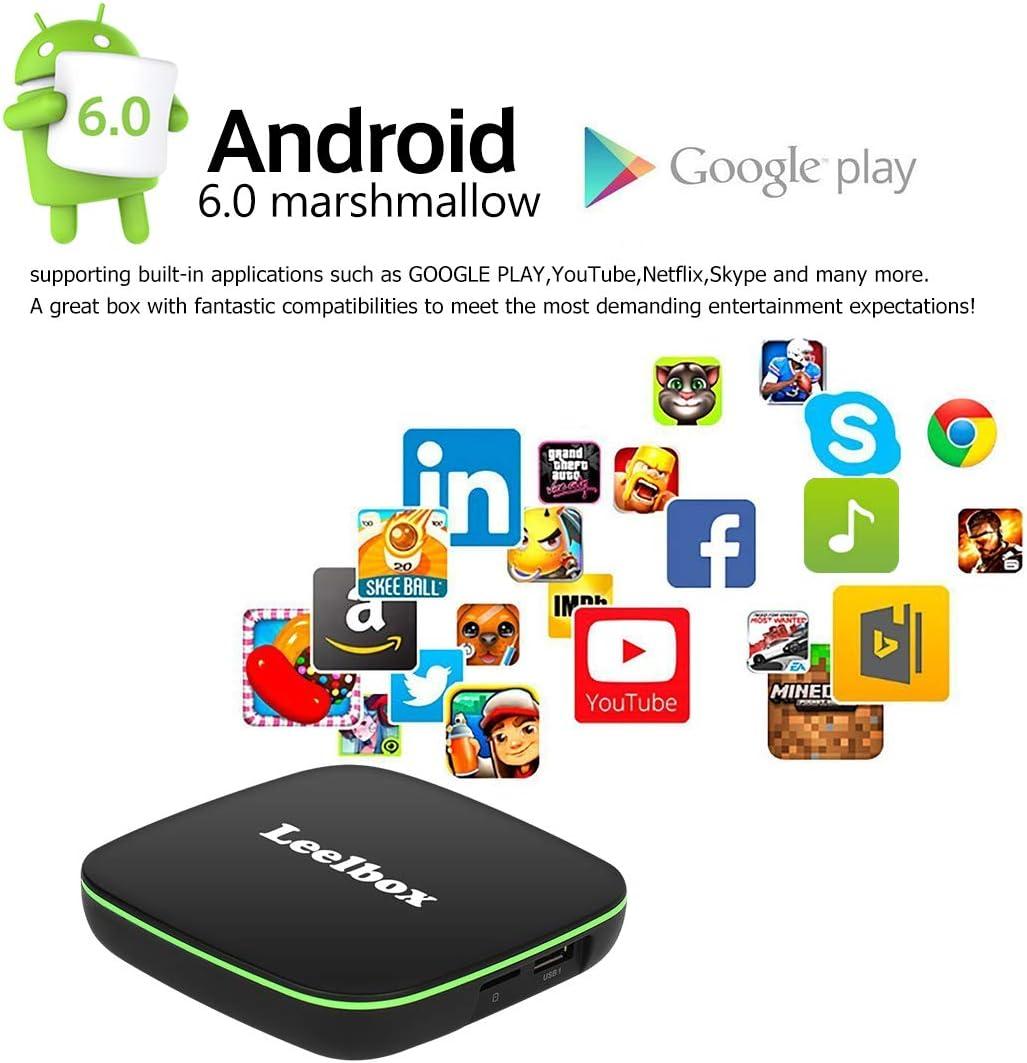 TV Box Android - Q1 Smart TV Box con Mando Inteligente, 1GB RAM & 8GB ROM, 4K*2K UHD H.265, HDMI, USB*2, WiFi Media Player, Android Set-Top Box: Amazon.es: Electrónica