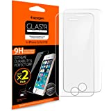 **2-Pack** Pellicola Vetro Temperato iPhone SE / 5S / 5C / 5 Spigen® **Easy-Install Kit** [Anti-riflesso Ultra-Clear] Pellicola Protettiva iPhone SE / 5S / 5C / 5 (SGP10111)