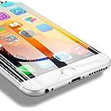 【2枚セット】Aokeou iphone 8 / iphone 7 炭素強化フィルム 液晶保護ガラス ハイビジョン表現 4.7インチ【3D Touch対応 高硬度9H スクラッチ防止 】 iphone7 /iphone8 適用(white)