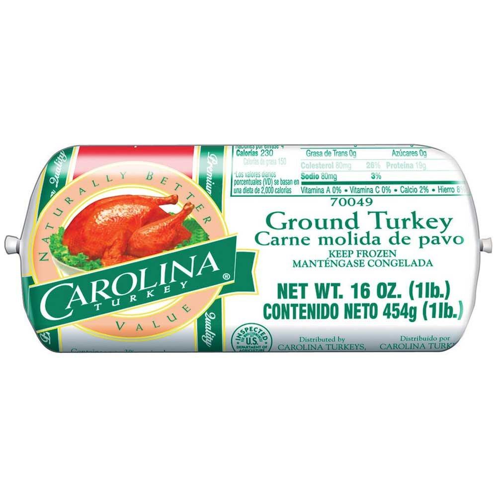 Butterball Carolina Ground Turkey, 1 Pound Chub -- 12 per case.