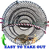 8. AncBace CRAB TRAP FISHING TRAPS LINE Net FISHING ACCESSORIES LOBSTER SHRIMP CAGE BAIT CASE PORTABLE FOLDED