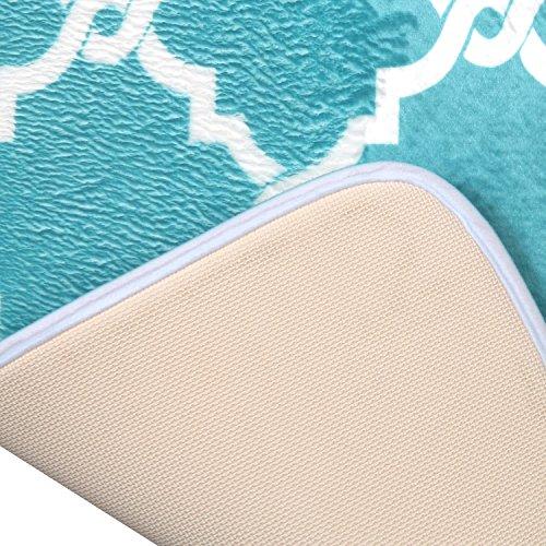 Bath Mat, U'Artlines Comfort Extra Thick Memory Foam Bath Mat Set Bathroom Mats Shower Rugs with Sbr Back and Flannel Surface (17.7x47.3, Blue) by U'Artlines (Image #6)