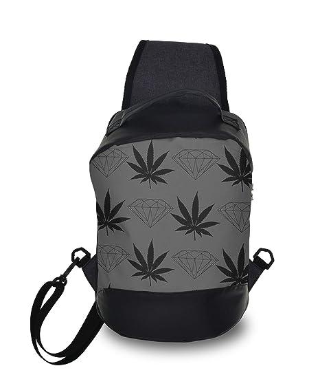 f3a0d2d2f83c Amazon.com: Men & Women Sling Bag Backpack Cool Diamond Weed Design ...