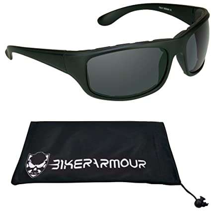 3e8ef1fb5e Amazon.com  Motorcycle Polarized Sunglasses Foam Padded. Spoiler  Automotive