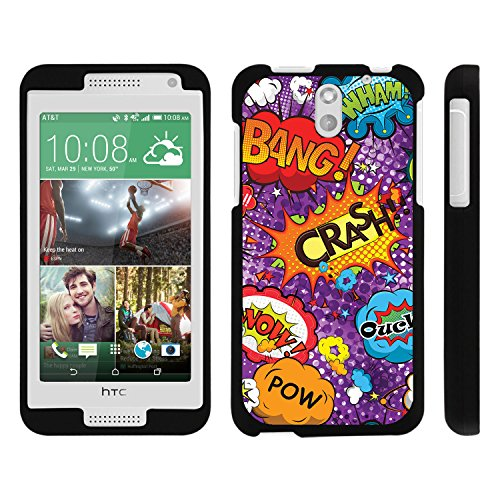HTC Desire 610 Phone Case, Perfect Fit Snap on Cell Phone Case Superhero Design Series for HTC Desire 610 and 612 by Miniturtle® - Crash Ouch Comic - Htc Desire 610 Super Hero Case